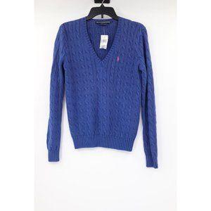 Vintage Ralph Lauren women's L cable knit sweater
